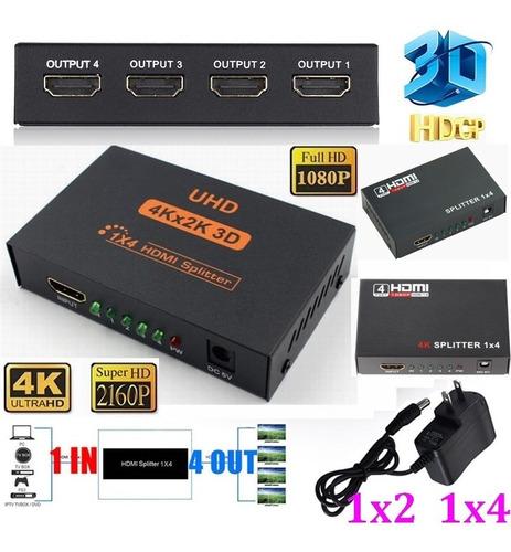 amplificador splitter multiplicador x4 hdmi 1080p fullhd 3d
