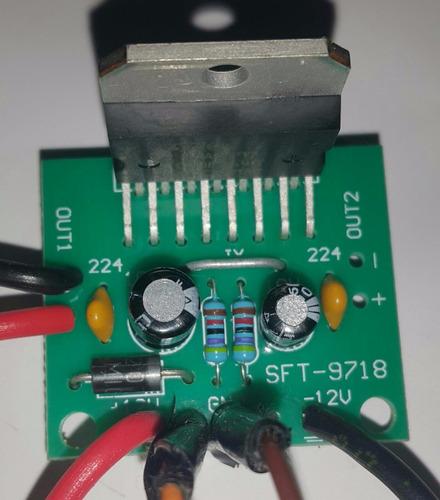 amplificador tda7297 15 +15 kit diy 12v 2.0