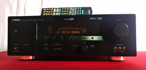 amplificador teatro yamaha rx v450 + 6.1 + control + front b
