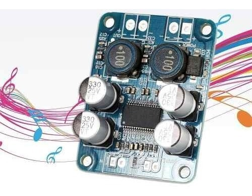amplificador tpa3118 placa classe d  10v~24v mono rms 60w