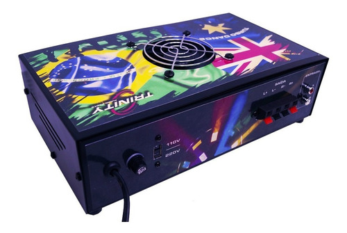 amplificador turbo dance trinity 300wrms woofer micro system