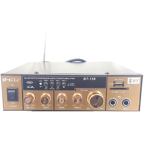 amplificador usb bluetooth radio fm casa loja som ambiente