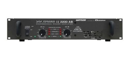 amplificador w power ii 2200 ab 2 ch 550w - ciclotron