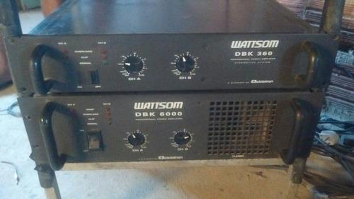 amplificador wattsom dbk 6000