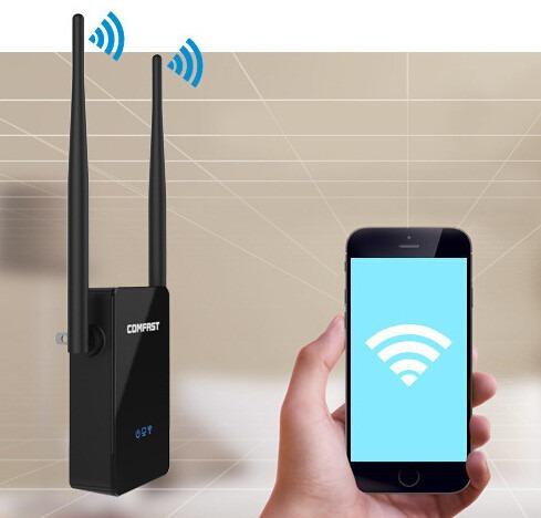 amplificador wifi repetidor inalámbrico antena comfast