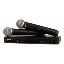 Micrófono Inalámbrico Doble De Mano Shure Blx288/pg58