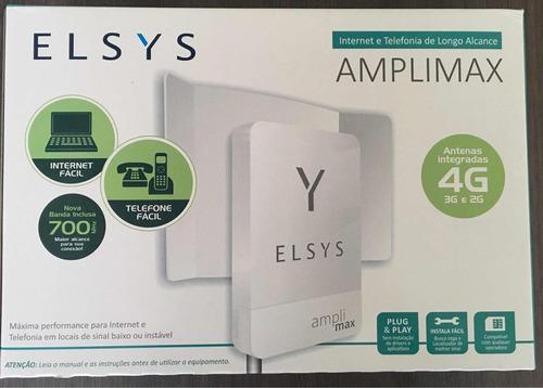 amplimax - link 4g elsys amplificador+20 metros de cabo rede