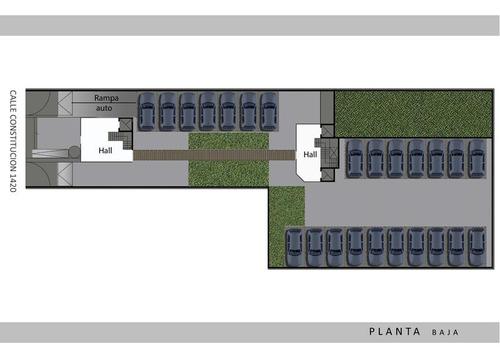 amplio 3 ambientes, coch opcional, balcon terraza c/parrilla