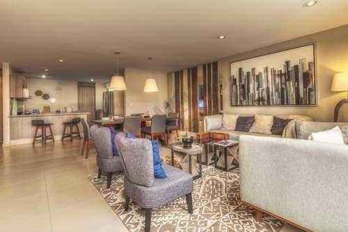 amplio departamento en planta baja con 2 o 3 habitaciones en privada con amenidades
