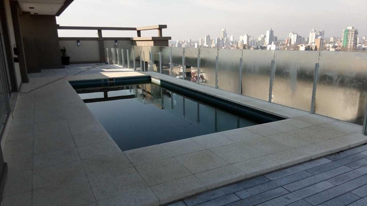 amplio depto 2 ambientes de lujo en edificio con piscina