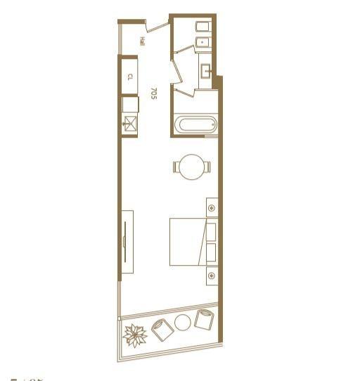 amplio monoambiente en suite torre sls  puerto madero