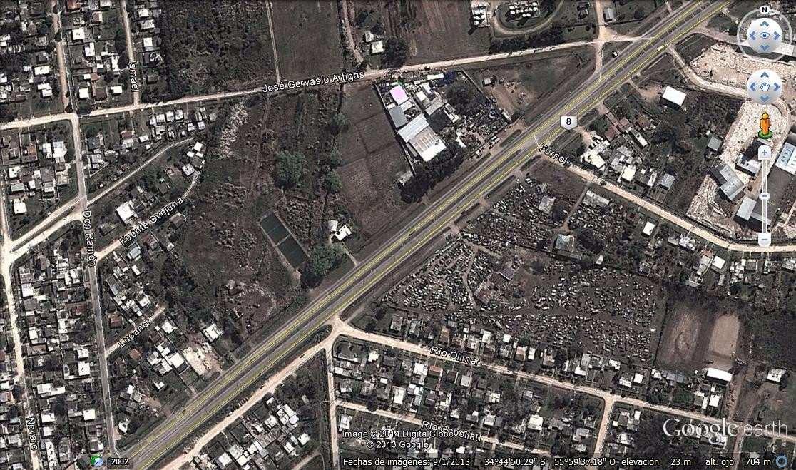 amplio terreno sobre ruta 8 con salida a ruta y calle