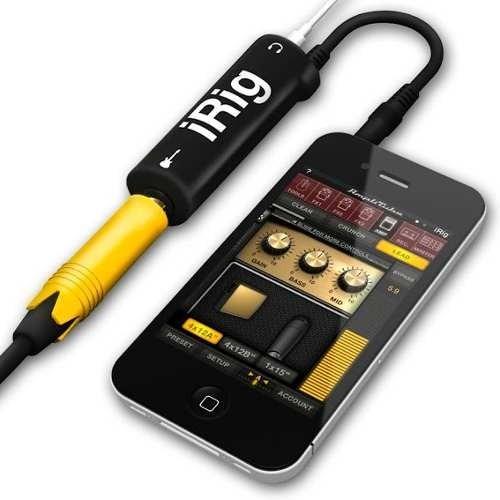 amplitube irig adaptador para tu ipod touch / iphone / ipad!