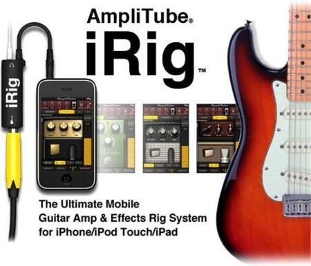 amplitube irig adaptador para tu ipod touch / iphone / ipad!