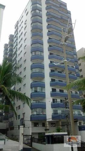 amplo apartamento com 3 dormitórios em praia grande na guilhermina frente para o mar - ap0123