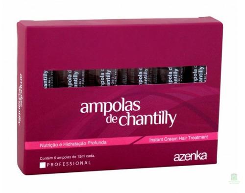 ampolas chantilly super tratamento capilar azenka - original