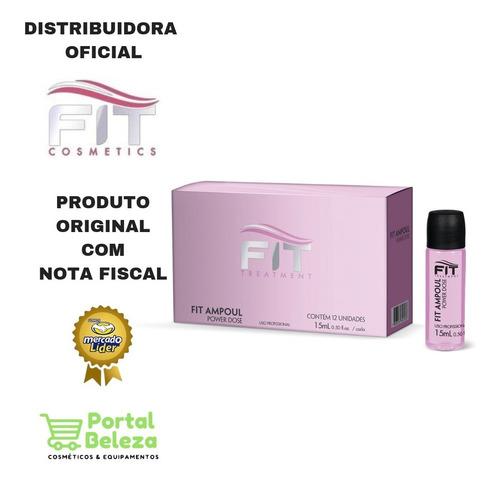 ampolas power dose 12 unidades 15ml - fit cosmetics