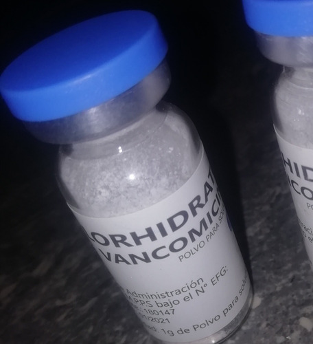 ampolla capilar de  vancomicina de 1gr