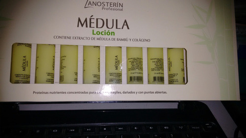 ampolla medula locion extracto de medula de bambu y colageno