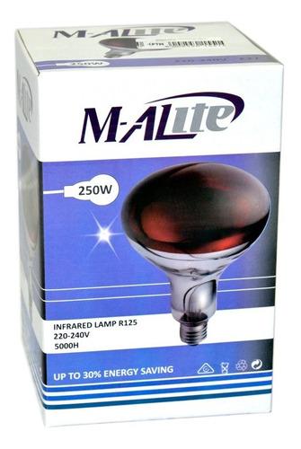 ampolleta de luz infraroja para calor terapéutico 250w