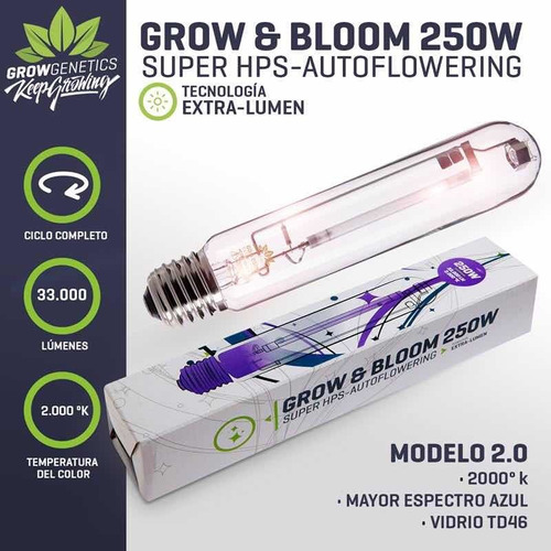 ampolleta grow & bloom 250w grow genetics