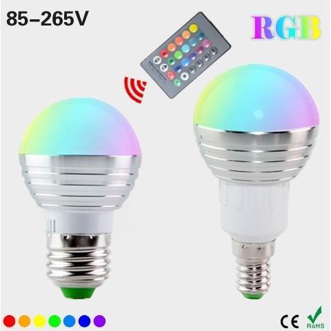 ampolleta led 16 colores e27 - control remoto - upup