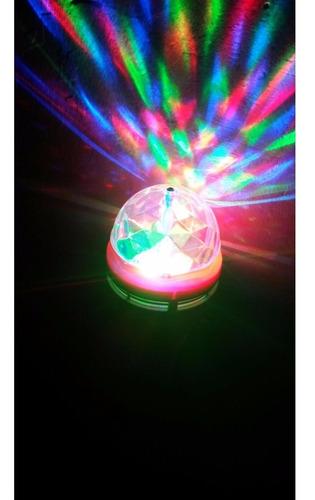 ampolleta led 3w  disco giratorio colores