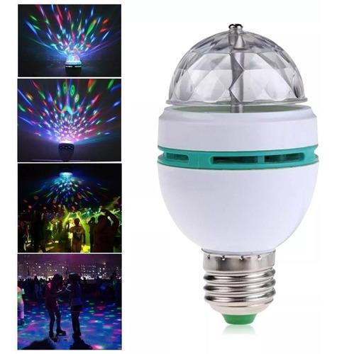 ampolleta led bola giratoria de disco luces fiesta carrete