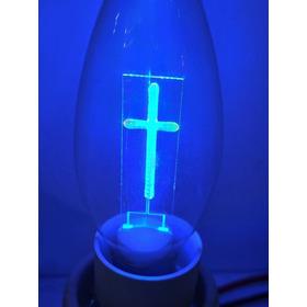 Ampolleta Led Candelabro Religioso Cruz Luz Cristal