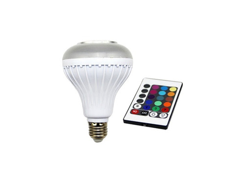 ampolleta led con parlante bluetooth rgb colores