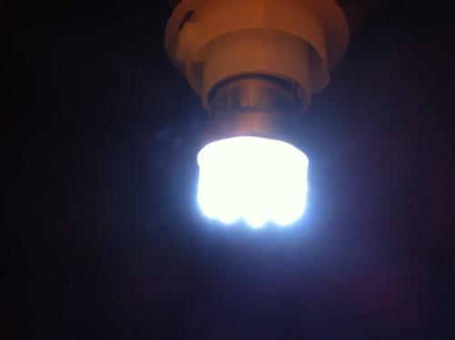 ampolleta led de 9 led blanca intermitente navegación
