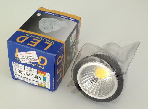 ampolleta led gu10 5w cob 500 lúmenes luz blanca