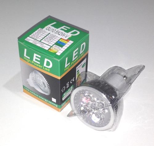 ampolleta led gu10 5x2w 800 lúmenes (luz cálida)