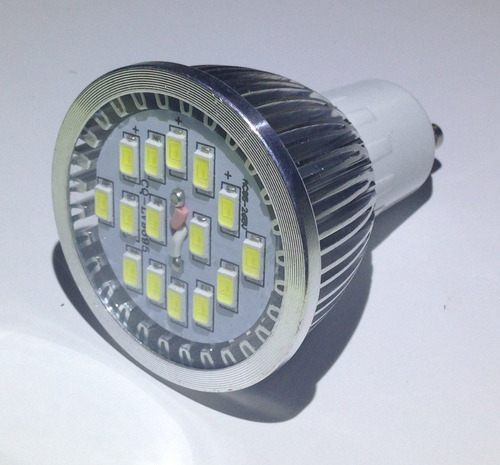 ampolleta led gu10 6 watts 750 lúmenes (luz blanca)