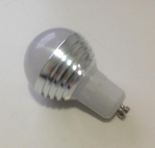 ampolleta led gu10 rgb 3watts 300 lúmenes c/control remoto