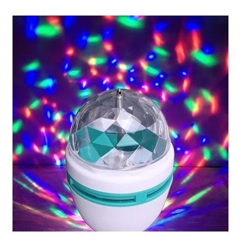 ampolleta led luces de fiesta giratoria bola disco color