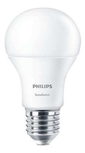 ampolleta led philips sceneswitch luz fria/calida sin dimmer