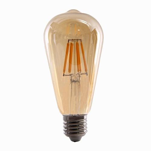 ampolleta led tipo edison 6 watts retro vintage / hb led
