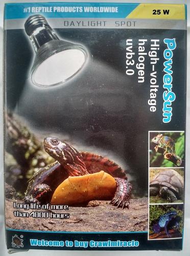 ampolleta luz halogena para reptiles y tortugas  25 watts