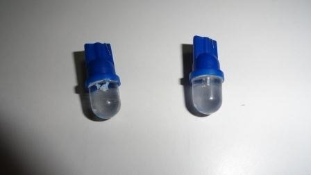 ampolletas 1 led t10 cola de pescado azules