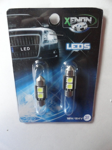 ampolletas 31mm 2 led smd 5050 blancas can bus (no error)