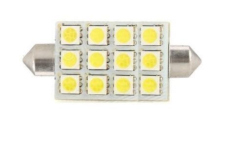 ampolletas 39mm 12 led smd 5050 blancas (interior vehículos)