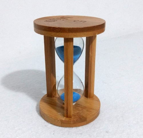 ampulheta 5 min importada estrutura madeira - várias cores