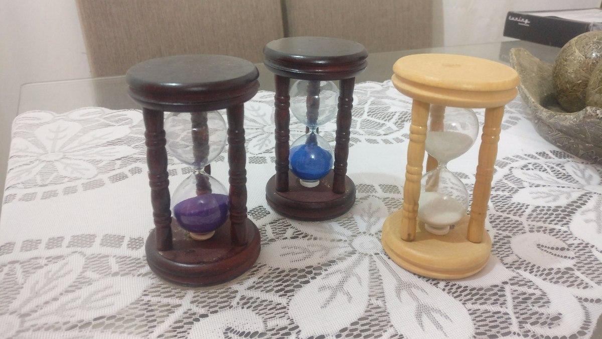 50744c4f3b6 ampulheta de madeira vidro areia relógio 3 cores de areia. Carregando zoom.