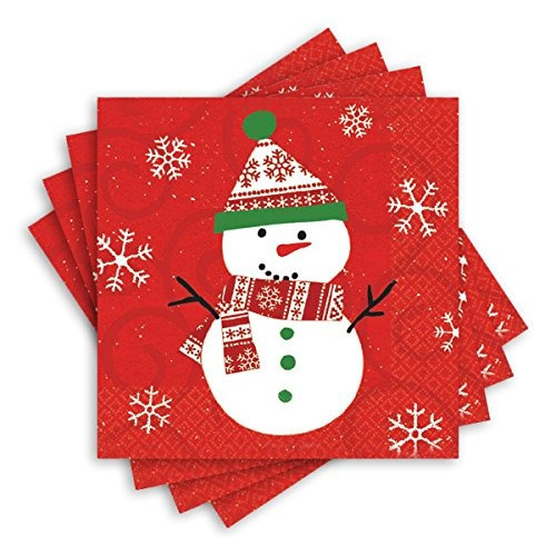 amscan 20 count very merry christmas luncheon napkins multic