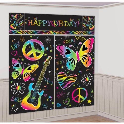 Amscan Neon Set De Decoración Para Fiestas De Cumpleaños Se