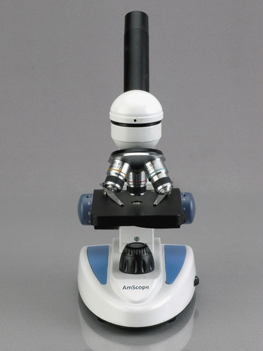 amscope 40x-1000x microscopio monocular con camara usb 5mp