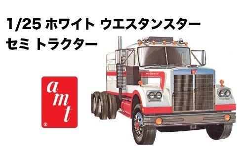 Amt 1/25 White Western Star Semi Truck Model Kit