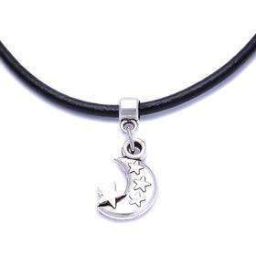 Amuleto Colgante Collar Cuero Unisex Moda + Cadena Cuero