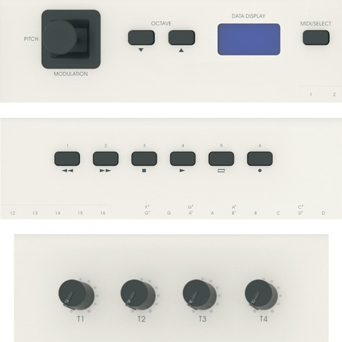 amw pro61 teclado controlador midi usb 61 teclas semi pesad.